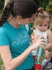 Andressa e sua filha Maria Eduarda